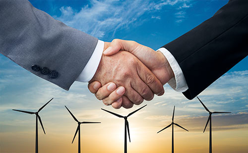 Choose Renewable Handshake